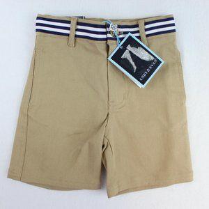 Andy & Evan Toddler Boys Shorts Khaki Striped 2t